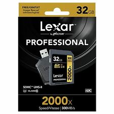 LEXAR PROFESSIONAL 2000x (32GB) SDHC UHS-II Card (classe 10) + SD UHS-II Reader