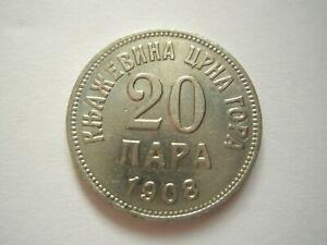 MONTENEGRO Yugoslavia 20 para 1908 XF