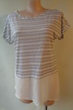 Brown Sugar Size 14 Linen Blend White Top Short Sleeve Postage