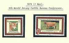 Jersey Qeii 1979 - 9th World Cattle Conference - Set of 2 Stamps - Mint Mnh