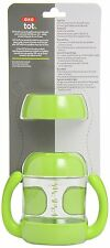 OXO 200ml Tot Sippy Cup Set Green Bottle Training Lid Leak Proof 6+Month PVC BPA