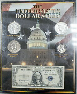 The United States Dollar Story 1995 US Mint One 1$ Coin Set + Banknote Silver