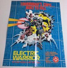 Electric Warrior promo poster (DC Comics 1985) Doug Moench Jim Baikie