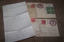 Used 1890 Postal Cards Stamps Letters