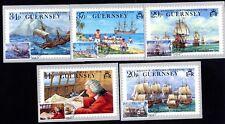 Guernsey 492/6 Maximumkarten Weltumsegelung von Lord Ansons Flotte