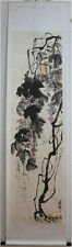 """Excellent Chinese Scroll Painting """"Grape"""" By Qi baishi 齐白石 葡萄D"""