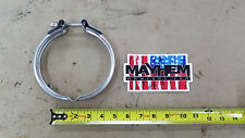 "Borg Warner S400 T6 5"" K-31 Stainless steel Turbo exhaust clamp"