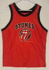 Vtg Rolling Stones Basketball Jersey Tank M-L 1998 Bridges to Babylon 97-98 Tour