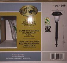 Hampton Bay Outdoor Solar LED Tapered Lights, Bronze, 8-Pack