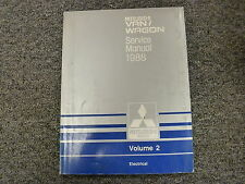 1988 Mitsubishi Van Wagon Electrical Shop Service Repair Manual Ls 2.4L Vol 2
