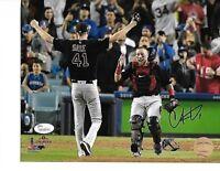Christian Vazquez Wolrd Series Boston Red Sox Autographed 8x10 Photo coa -JSA