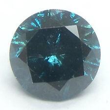 0.50 carats BLUE Brilliant Cut ROUND POLISHED DIAMONDS