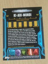 2013 Topps Star Wars Galactic Files ser 2 BLUE parallel KI-ADI-MUNDI #427 1/350