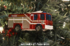 Custom Dennis Sabre Fire Truck Ladder Christmas Ornament 1/64 Scale Adorno NEW!