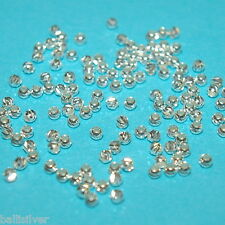 250 pieces 2.5mm Sterling Silver 925 LASER CUT Diamond Cut Textured Round BEADS