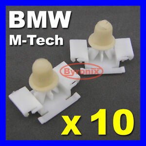 BMW M-Tech CLIPS 3 SERIES E36 DOOR MOULDING TRIM STRIP CLIPS RUBSTRIP M Tech