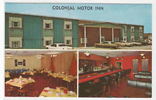 Colonial Motor Inn Cars Walnut Iowa postcard