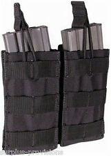 Condor MA19 Double Open Top 5.56 Mag Pouch - Black Tactical Rifle Molle Pouch