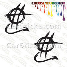 """2 of 5"""" Hellion Power Systems /B aftermarket performance car stickers decals"""