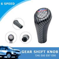 6 Speed Gear Stick Shift Knob Carbon Fiber for BMW 1 3 5 Series E90 E91 E92 UK