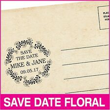 Personalized save-the-date hand stamp. Wedding and holiday stamp. Rubber stamp.