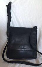 COBB & CO Padded Black Leather Cross Body/Shoulder Bag / Handbag