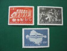 KROATIEN 1945 MiNr 170-172 postfrisch, M€ 700,-- (Y460)