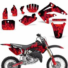 Decal Graphic Kit Honda MX CR85 Bike Sticker Wrap Backgrounds CR85 03-07 ICE RED