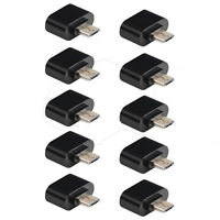 10pcs Micro USB 2.0 Macho a hembra adaptador OTG 5 Pines Para Android Teléfono
