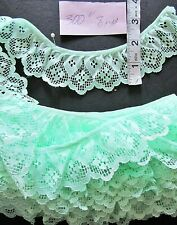 Elastic Lace Trim with Frill for Lingerie,Baby Clothes-2cm 1m White,Decorative