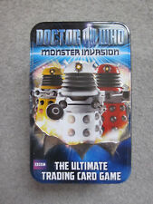 Doctor Who Monster Invasion Trading Cards Tin, GC