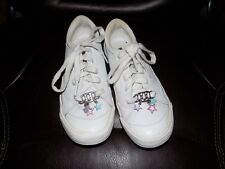Keds White Soft White  Heart Charms Laceup Comfy Sneaker  Shoes Size 1 Girl's