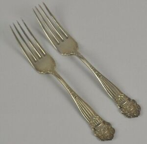 Sterling Silver Towle 2 Dinner Forks Georgian Dinner Fork Pierced Monogram B