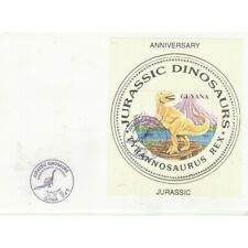 Guyana 1993 Prehistoric Fauna 6 High Values IN 6 Bf Su Envelope FDC MF71222