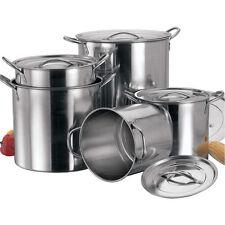 4PC grande de acero inoxidable Stock Olla de Sopa hirviendo Profunda Catering/Olla Set