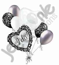 7 pc I Do! Engagement Just Married Balloon Bouquet Party Decoration Car Wedding