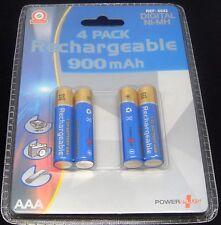 Digital * 4 X 900mah Aaa Recargable batteries-ni-mh