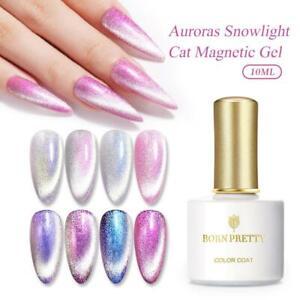 BORN PRETTY Magnetic Gel Nail Polish Snowlight Shining Soak Off UV LED Nail Gel