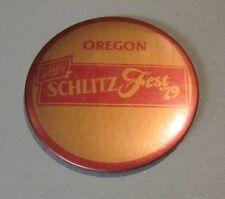 """Vintage 1979 Oregon Schlitzfest Schlitz Beer Advertising Pin Pinback Button 3"""""""