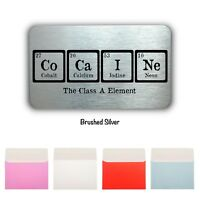 Cocaine Elements Mini Card Wallet/Purse Gift Card-Fun Gift-Personalised Gift
