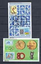 BOLIVIA   2 BLOCKS  OLYMPICS 1980  MNH