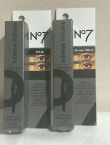 Boots No7 INTENSE VOLUME Volumising Mascara 7ml BLACK BROWN/BLACK BOXED