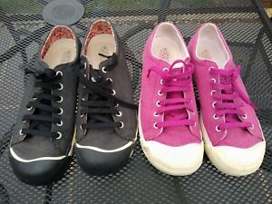 2 Pairs KEEN flat shoes pumps pink black barely worn spare laces UK 7 EU 40