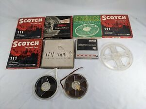 Lot 3 Scotch STEREX and More Magnetic Tapes Lot