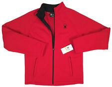 NEW $169 Spyder Stellar Jacket! M  Racing Red  Bonded Fleece  Sherpa Lined  SLIM