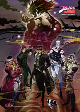 **Legit Poster** JoJo's Bizarre Advanture Jotaro Group Key Art Wallscroll #86593