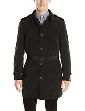 $395! NWT Kenneth Cole New York Men's Reino Black Trench Rain Coat Jacket L