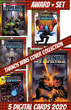 Topps Marvel Collect Award + Set (1+4) Thanos Wins Cover Collection 2020 Digital