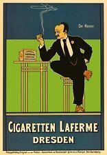 AP159 Vintage German Cigaretten Laferne Dresden Advertisement Poster Card A5