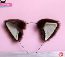 Anime Neko Cat ears Headband Hair band Party Headwear Cosplay costume Coffee